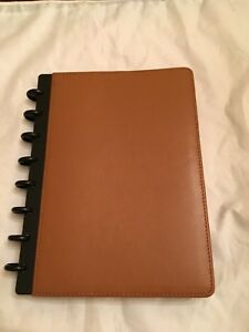 Levenger Junior Size Circa Leather Notebook Saddle Color