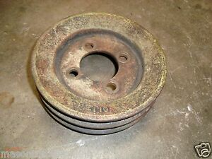 Ford Industrial Engine Crankshaft Pulley 3 Groove Casting C1jz 6312 used