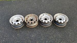 Mopar Slotted Rallye Wheels 14x5 5 Set Of 4 Charger Coronet Cuda Challenger