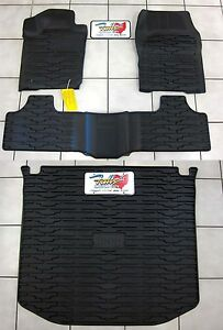 2013 2015 Jeep Grand Cherokee Rubber Slush Floor Mats Cargo Tray Liner Set