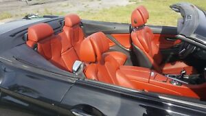 12 15 Bmw F12 M6 Luxury Orange Interior With Bang Olufsen Speaker Covers Seat