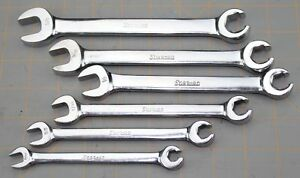 Snap On Combination Open End Flare Nut Sae Wrench Set Rxs 5 16 5 8 Line Brake