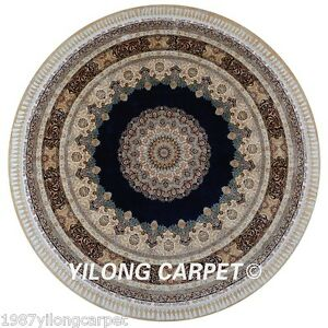Yilong 9 1 X9 1 Persian Round Silk Area Rug Handmade Carpets Hand Knotted 1885