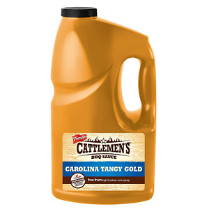 Cattlemans California Gold Sauce 1 Gallon Jug Tangy Golden Bbq Pit Bar Goodness