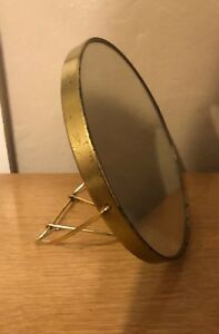 7 5 Inch Vintage Round Metal Stand Dressing Table Mirror