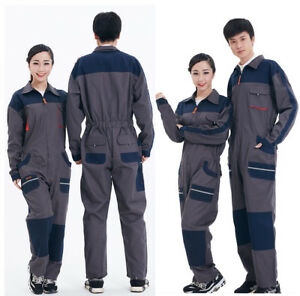 New Unisex Coverall Overall Workwear Mechanic Jumpsuit Protective Boiler Suit