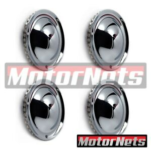 15 Chrome Baby Moon Hub Caps Discs Wheel Trim Rim Covers Street Hot Rat Rod