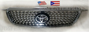 New Toyota Corolla 2003 2008 Diamond Chrome Black Background Grill With Emblem