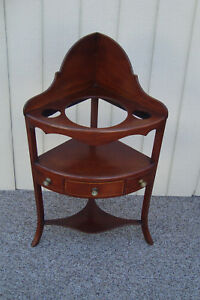 59187 Antique Corner Whatnot Pitcher And Bowl Stand