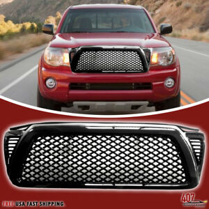 2005 2011 Toyota Tundra Front Upper Grill Gloss Black Grille