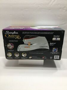 Swingline Optima 70 Electric Stapler Full Strip 70 sheet Capacity Silver 48210