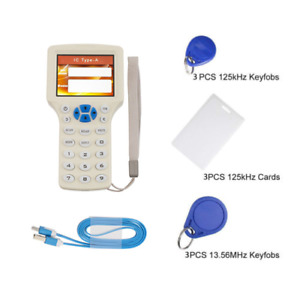 10 Frequency Rfid Copy Encrypted Nfc Id ic Card Reader Writer Keyfbob 1000khz