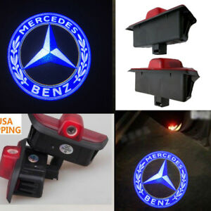 For Mercedes C260 C300 C200 C280ghost Led Door Step Courtesy Shadow Laser Light
