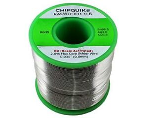 Lf Solder Wire 96 5 3 0 5 Tin silver copper Rosin Activated 031 1lb Soldering