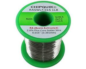 Lf Solder Wire 96 5 3 0 5 Tin silver copper Rosin Activated 015 1lb Soldering