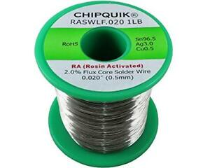 Lf Solder Wire 96 5 3 0 5 Tin silver copper Rosin Activated 020 1lb Soldering