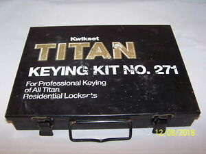 Kwikset Titan Keying Kit No 271 Rekeying Locksmith Tools