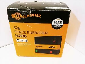New Gallagher M300 Electric Fence Energizer Charger Free Shipping