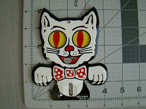 Vintage Style Stamped Steel Cat License Plate Topper Cat Topper Accessory Topper