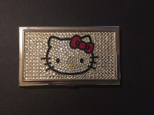 Hello Kitty Crystal Business Card Holder
