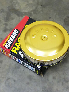Moroso Vintage Gold Anodized Aluminum Air Cleaner 14 Chevelle Camaro Gto Ta