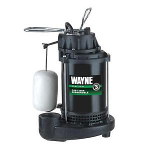 Wayne Cdu790 1 3 Hp Cast Iron Submersible Sump Pump W Vertical Float Switch