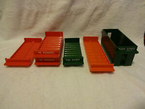 Lot Of 6 Metalfab Color Golston 10053 Roll Holder Coin Tray Penny Dimes Quarters