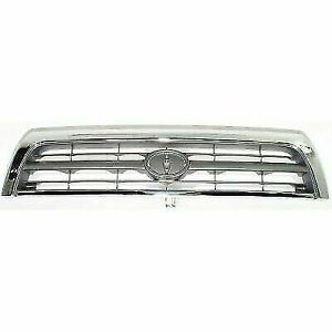New Chrome Shell W Silver Insert Grille For Toyota 4runner 1996 1998 To1200202