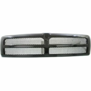 New Textured Black Plastic Grille For Dodge Ram 2500 1994 2002 Ch1200188