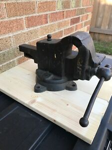 Vintage Parker 271 Swivel Bench Vise 3 5 Jaws 48 Lbs Made In Usa Vice 271