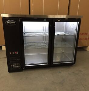 48 Back Bar Beer Cooler 2 Door Glass 4 Refrigerator Cooler New Bottle
