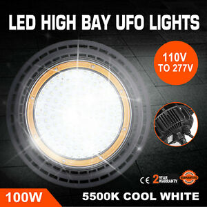 100w Ufo Led High Bay Light Waterproof Eco efficient Glass Cover