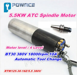 Cnc 5 5kw 380v Atc Water Cooled Spindle Motor Bt30 18000rpm Milling Engraving