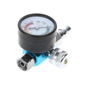 1 4 Bsp Hvlp Spray Gun Pressure Gauge Air Regulator Valve Diaphragm Control