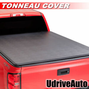 Lock Soft Roll Up Tonneau Cover For 2014 2018 Gmc Sierra With 5 8 Feet Bed