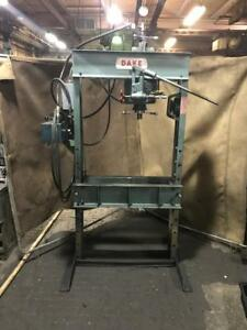 Dake 50 Ton Electric hydraulic h Frame Press With Traveling Head