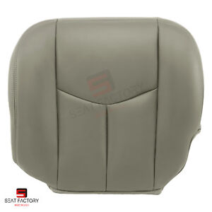2003 2007 Chevy Silverado Truck Driver Bottom Replacement Seat Cover Color Gray