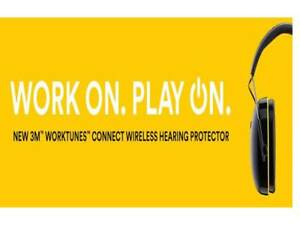 New 3m Worktunes Connect Hearing Ear Protector With Bluetooth Technology Speaker