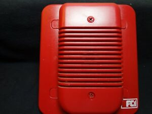 Fci Hc12 24 fc Fire Control Instruments Red Wall Horn Sounder 10 30v