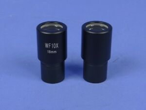New Bausch Lomb Compatible 10x W f Microscope Eyepiece Pair B l 2 Pcs