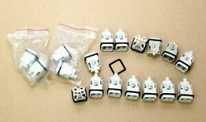 Lot Of 18 Square 5 Pin Connector Inserts Ckm 04