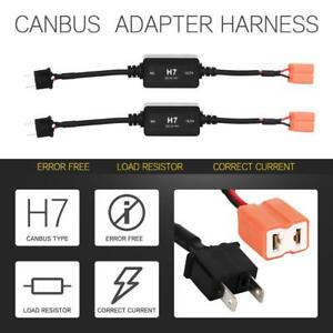 2x H7 Headlight Canbus Led Decoder Error Free Hid Anti Flicker Resistor Canceler