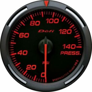 Defi Racer Gauge 60mm Oil Pressure 140psi Black Face Red Numbers Usdm Df11602