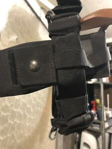 Black Tactical Nylon Duty Belt With Inner Belt