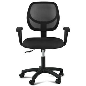 Swivel Mesh Seat Ergonomic Computer Gaming Task Office Desk Chair Mid Back Black