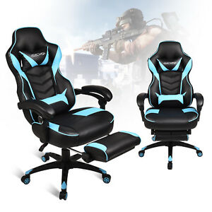 Racing Gaming Chair High Back Ergonomic Recliner Computer Office Task Desk Seat