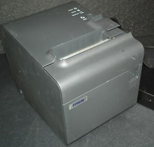 Epson Tm t90 Pos Thermal Printer M165a W Parallel Port Power Adapter