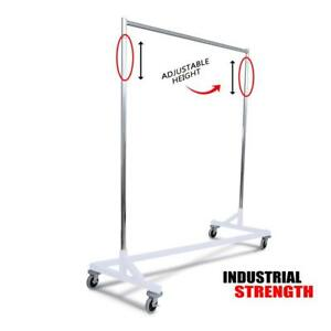 Only Hangers Industrial Strength Z Rack white
