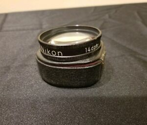 Rare Vintage Nikon 14 Dptr Optometry Ophthalmoscope Aspherical Indirect Lenses