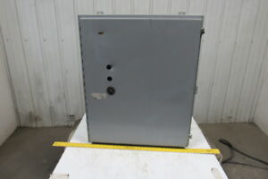 Hammond Mfg 36x30x12 Wall Mount Steel Electrical Enclosure Box W back Plate